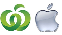 Woolworth mit Apfel Logo