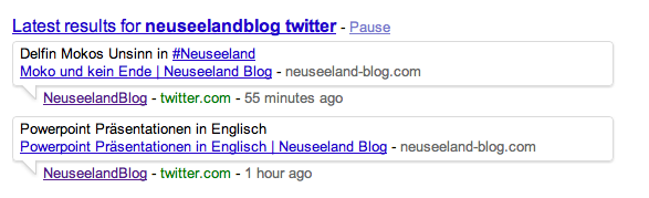 neuseelandblog und twitter Das Neuseeland Blog und Twitter